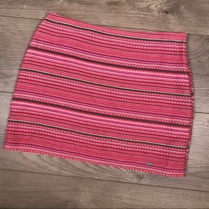 HOLLISTER Tapestry Mini Skirt Pink NWT